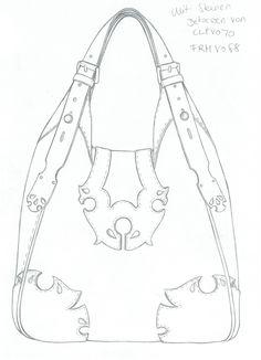 ... Dress Design Drawing, Drawing Bag, Leather Bag Pattern, Bag Illustration, Leather Art, Denim Bag, Picture Design, Fashion Flats, Leather Working