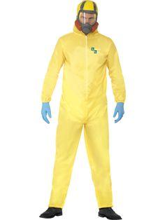 Smiffys Breaking Bad Hazmat Suit Halloween Fancy Dress Costume Pack Contains: Hazmat Suit,Latex Mask,Gloves & Goatee Size: Medium Chest Chest Waist Large Chest Chest Waist Ref 20498