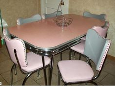 on retrorenovation.com how to re-upholster 50's dinette chairs affordably with link to vinyl suppliers