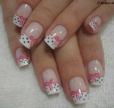 In Moda For Me: Uñas decoradas ,uñas francesas siempre a la moda Fabulous Nails, Gorgeous Nails, Pretty Nails, Pink Nails, Toe Nails, White Nails, Cancer Nails, French Tip Nails, French Toes