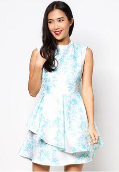 Printed Origami Dress
