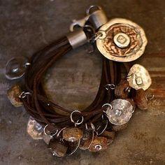 Baltic amber   raw  bracelet     sterling silver  by ewalompe, $160.00