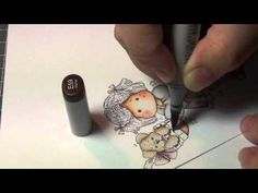 Coloring Video: Tilda with Puppy (Magnolia Magazine) - YouTube
