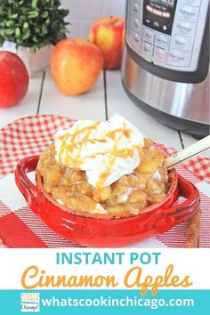 Instant Pot: Cinnamon Apples Desserts For A Crowd, Great Desserts, Delicious Desserts, Dessert Recipes, Yummy Food, Party Recipes, Easy Weekday Meals, Easy Meals, Cooking Recipes