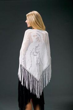 CrochetKim Free Crochet Pattern: Blessed Mother Prayer Shawl