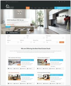 this free real estate wordpress theme offers a responsive design