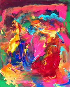 Title: Abstract5  Artist: Art by Virginia Erdie  Original Medium: Painting  About this work:  A small, powerful abstract painting on canvas board, ready to be framed and hung in a quaint place in your home that needs some excitement!