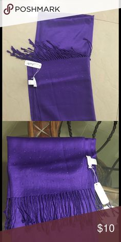 NWT. Scarf Beautiful scarf with small rhinestones. Brand new Charming Charlie Accessories Scarves & Wraps