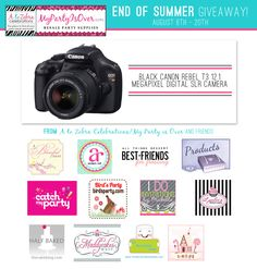 Canon EOS Rebel giveaway! This is awesome! #canon #camera #giveaway