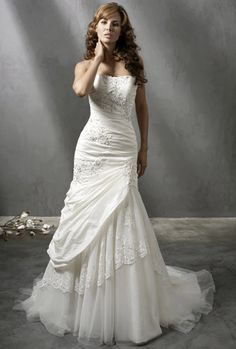 love the under lace and tulle of the wedding dress is exposed