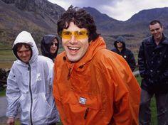 Gruff Rhys frontman of Super Furry Animals, even when in the rain...