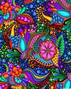 Hippie Art, Dot Painting, Psychedelic Art, Fractal Art, Mandala Art, Doodle Art, Flower Art, Design Art, Pop Art