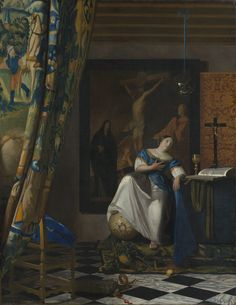 Vermeer (1632-1675), Allegory of the Catholic Faith, c. 1670