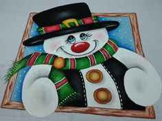 Snowman, Disney Characters, Fictional Characters, Christmas Ornaments, Paintings, Christmas 2017, Dates, Painting On Fabric, Craft