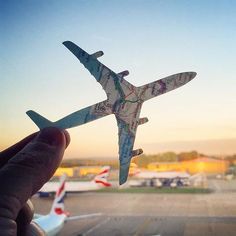 Pin for Later: Using Just Paper, This Instagram Account Will Show You a Whole New World Airplane