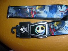 JACK NIGHTMARE BEFORE CHRISTMAS SEATBELT STYLE ADJUSTABLE POLYESTER BELT OSFM #BELT