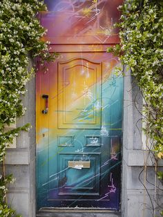 Door © 2015 Paul Light by Paul Light / Cool Doors, Unique Doors, Painted Doors, Door Knockers, Banksy, Doorway, Windows And Doors, Stairways, Home Design