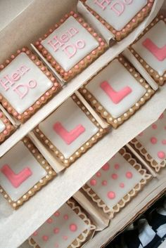 hen do biscuits packed up