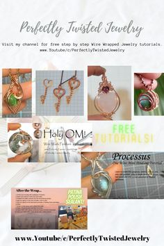 Visit my channel for free step by step Wire Wrapped Jewelry tutorials. www.Youtube/c/PerfectlyTwistedJewelry Etsy Jewelry, Jewelry Stores, Beaded Jewelry, Wire Wrapping Tutorial, Mini Pendant, Wire Wrapped Jewelry, Etsy Store, Channel, Tutorials