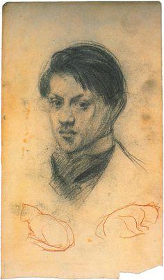 Pablo Picasso - Self Portrait, 1922 Henri Rousseau, Henri Matisse, Pablo Picasso Drawings, Picasso Art, Picasso Paintings, Picasso Self Portrait, Picasso Portraits, Pierre Auguste Renoir, Paul Gauguin
