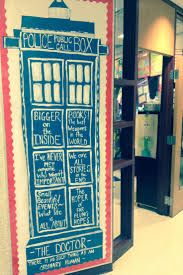 Doctor Who Classroom Door. My favorite quotes! My graders will love this! Classroom Door, Classroom Themes, Classroom Organization, Classroom Environment, School Christmas Door Decorations, School Decorations, Christmas Deco, School Counselor Office, Class Decoration