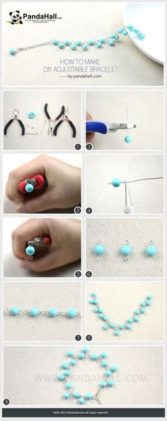 Jewelry Making Tutorial. Turquoise beads