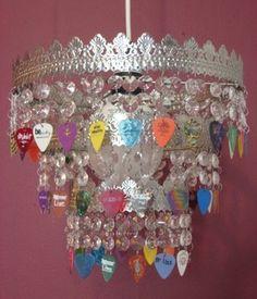 guitar pick chandelier