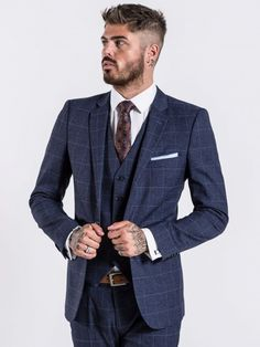 79b52c490ef Cusack Navy Tailored Fit Suit by Benetti