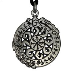 Invincibility in Battle Aegishjalmur Rune Pendant Norse Asatru Viking Jewelry Talisman Necklace. Read more description on the website.