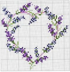 lavendelhart - kruissteekpatroon