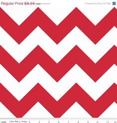 Riley Blake, Large Chevron, Red, 1 yard,