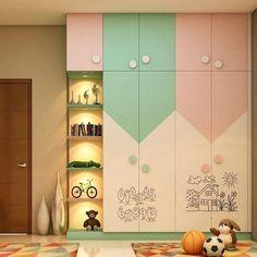 Bedroom Cupboard Designs, Wardrobe Design Bedroom, Kids Bedroom Designs, Room Design Bedroom, Kids Room Design, Home Room Design, Villa Interior, Home Interior, Interior Modern