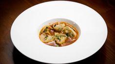 Pork and Corn Dumplings with Miso Caramel Broth - By Masterchef Australia contestant Trent