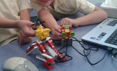 LEGO WeDo Engineering (K-2nd) + LEGO WeDo Programming (3rd-4th/5th grades) are explained. Combine Robotics, coding software & hands-on tangible tech from Legos: via legoengineering.com