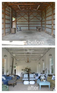 Fall Time, The Barn is Ready, And I Want You to Come Here! Beautiful barn renovation - and it's beautifully decorated for fall!Beautiful barn renovation - and it's beautifully decorated for fall! Metal Building Homes, Metal Homes, Building A House, Morton Building, Barn House Plans, Shed Plans, Barn Plans, Home Renovation, Small House Renovation