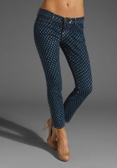 Current/Elliott The Stiletto in Indigo Polka Dot £121.76