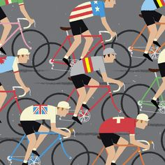 gumo gallery — Cycling Art, World Road Race Championship Cyclists, Peloton Cycling Poster