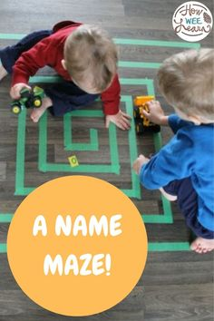 This name maze is a great hands on play activity to get preschoolers and kindergarteners playing with the alphabet letters and the letters of their name.
