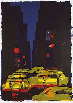 Rainer Fetting, Taxis (City Canyon), 1992, Deutsche Bank Collection
