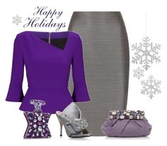"""""""Have a Holly Jolly...."""" by outfitsloveyou ❤ liked on Polyvore featuring MaxMara, Roland Mouret, Prada, Shishi, N°21 and Bond No. 9"""