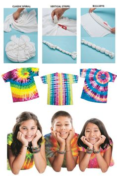 Learn different tie dye patterns and techniques. Great craft for summer time!