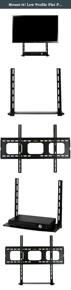Mount-it! Low Profile Flat Panel TV Mount and Glass Entertainment Center Combo. With its elegant design, Mount-It! entertaining center complements your living room. It features solid steel construction, with 6mm black tempered glass for the shelves ideal for media components such as cable TV box, home theater system, gaming consoles, DVD and Blu-ray players. Each unit comes with assembly instructions and hardware for an easy installation. Specifications: * Glass and metal mixed tv stands…