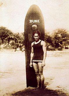 Duke Paoa Kahanamoku is credited as Olympic swimmer and surfer, , . Duke Paoa Kahanamoku (also known as Duke Paoa Kahinu Mokoe Hulikohola Kahanamoku) born August 1890 in Honolulu, Hawaii, United States - died January