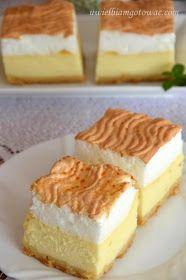 Sernik z rosą - delikatny, lekki sernik z bezą Polish Desserts, Polish Recipes, Fun Desserts, Delicious Desserts, Yummy Food, Cake Cookies, Cupcake Cakes, Cake Recipes, Dessert Recipes