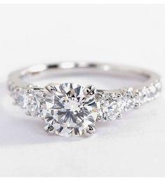Truly Zac Posen Five-Stone Trellis Diamond Engagement Ring | Blue Nile