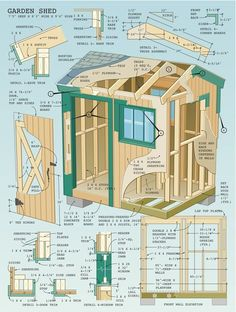 Are you looking garden shed plans? I have here few tips and suggestions on how to create the perfect garden shed plans for you. Wood Shed Plans, Diy Shed Plans, Storage Shed Plans, Diy Storage, Garage Plans, Roof Storage, Outdoor Storage, Backyard Storage, Pallet Storage