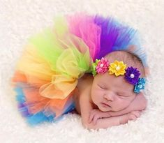 A personal favorite from my Etsy shop https://www.etsy.com/listing/292557071/baby-rainbow-tutu-set-and-matching