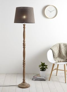 Am dolce vita turned floor lamp painted in white lacquer from thora floor lamp 135 aloadofball Choice Image
