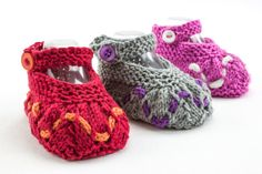 KNITTING PATTERN PDF Baby Girl Booties Baby by heaventoseven
