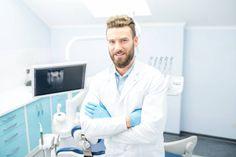 portrait of handsome dentist